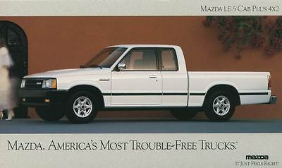 1991 Mazda B2600 LE5 Cab Plus 4x2 Pickup Truck Large Factory Postcard my1627