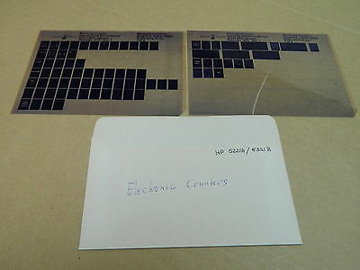 vintage Microfiche Mikrofilm manual: HP: ELECTRONIC COUNTERS HP5221A/5321B
