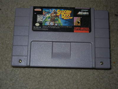 ***SCOOBY DOO MYSTERY SNES SUPER NINTENDO GAME***