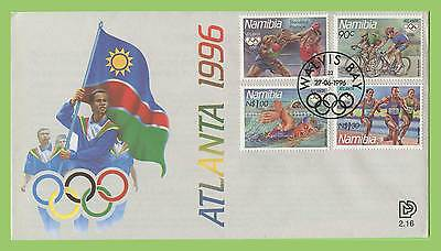 Namibia 1996 Atlanta Olympics set on First Day Cover