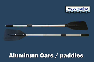Aluminum oars for inflatable boat raft   52  inches long  - black handles