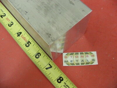 "2-3/4"" X 2-3/4"" ALUMINUM 6061 SQUARE SOLID BAR 7"" long T6511 Flat New Mill Stock"