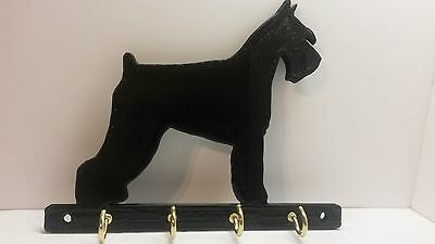 ABS Plastic Schnauzer Dog Leash Holder Hanger Key Rack FREE SHIPPING