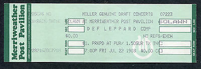 1988 Def Leppard and Europe unused concert ticket Merriweather Post Hysteria