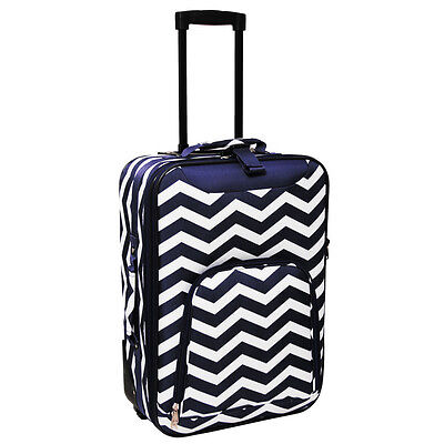 World Traveler Lightweight 20-inch Chevron Carry-on Upright Suitcase Luggage