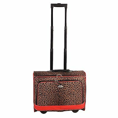 American Flyer Animal Print Carry-on Under Seat Rolling Upright