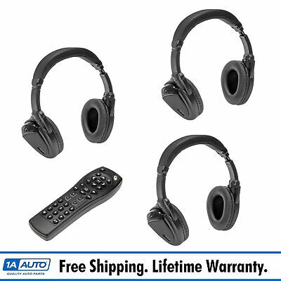 DORMAN Wireless Headphones & Remote Control Set of 3 for Chevy GMC Cadillac