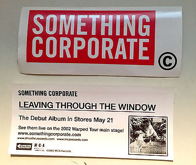 Something Corporate Clear Sticker Jack's Mannequin Andrew McMahon