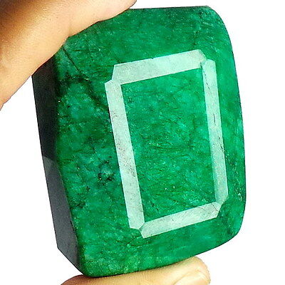 865 Ct Natural Earth Mined Brazil Green Faceted Emerald Big Gemstone Museum Size