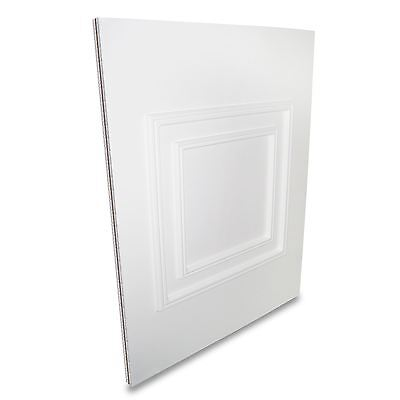 White UPVC Hanover Half Door Panel MDF Reinforced Raised Moulded 24mm 28mm Thick