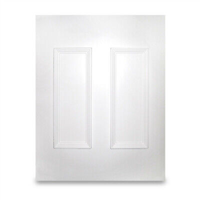 White UPVC Manor Half Door Panel MDF Reinforced Raised Moulded 24mm 28mm PVC