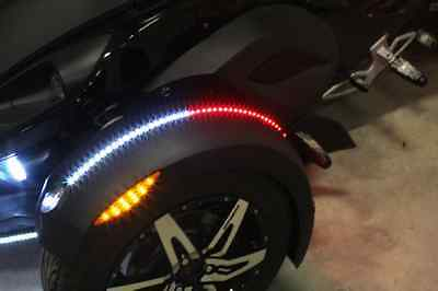 Custom Dynamics Amber Red White Magicflex LED Light Strip 08-17 Can Am Spyder ST