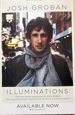 JOSH GROBAN 2010 Illuminations promotional poster Flawless New Old Stock