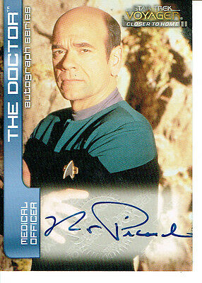 Star Trek Voyager Closer To Home, Cth Autograph Card A4 Robert Picardo