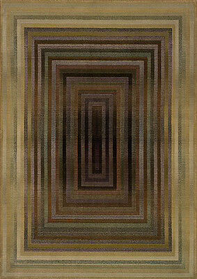 8x11 Sphinx Abstract Stripes Green Modern 281J Area Rug - Approx 7' 10'' x 11'