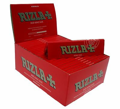 1 5 10 20 25 50 Genuine Rizla Red King Size Slim Cigarette Rolling Papers