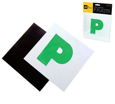 Pack Of 2 Aa Fully Magnetic Secure Green New Driver P Plates Just Passed Car