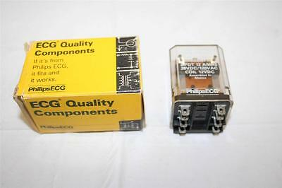 ECG Relay RLY7942 DPDT 12A 12VDC Magnetic Latching Relay New
