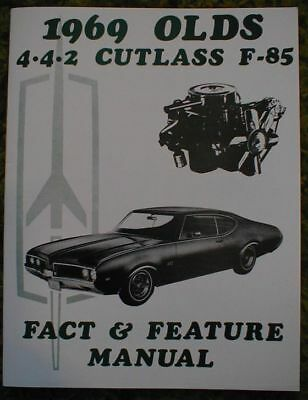 1969 Oldsmobile Cutlass 442 F85 Wiring Diagram Manual 69 10 00 Picclick