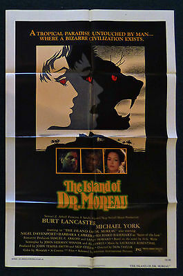 The Island Of Dr Moreau 1977 Original 1 Sheet Movie Poster Burt Lancaster