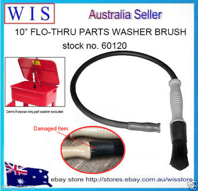 "10"" Flow Through Brush and Hose Flow Thru Cleaning Parts Washer Workship Auto"