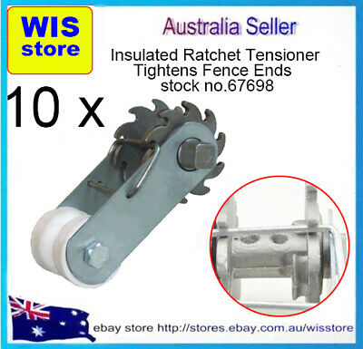 10/PK Inline Insulated Ratchet Fence Strainer,Ratchet Spring Clip Wire Strainer