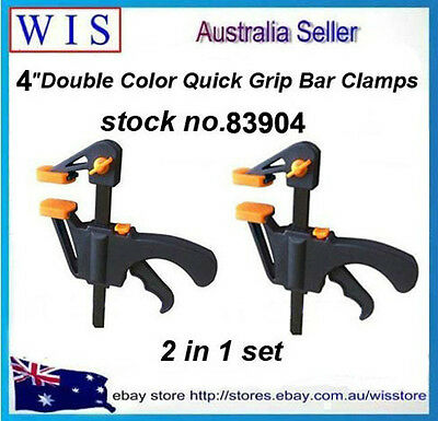 """PK of 2 Quick Grip 4""""(100mm) Mini Clamp Set,Quick Action Clamps Bar-83904"""