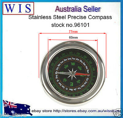 Silver Hand-held S/S Precise Compass Navigation gps for Travel Camping-96101