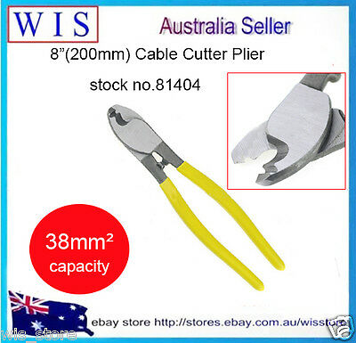 """8""""(200mm) Cable Cutting Pliers Up to 38mm² Suit for Battery & Anderson Plug Wire"""