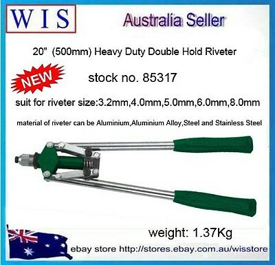 "20"" Double Hand Riveter Gun,Riveting Tools Heavy Duty Fast Hitting Rivet Gun"