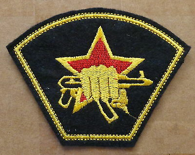 Russian    ARMY KALASHNIKOV FIST RED  STAR    embroidered     patch  #363 SE