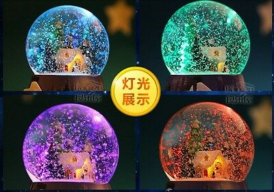 Led Light With Snow Crystal Ball Music Box with 32 SONGS