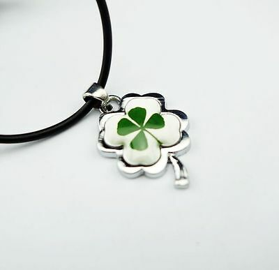 12 PCS Green Real Four Leaf Clover CHIC LEAF Pendant Necklace Good NG10