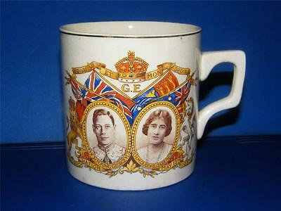 VINTAGE CORONATION COMMEMORATION MUG ~ KING GEORGE VI c1937