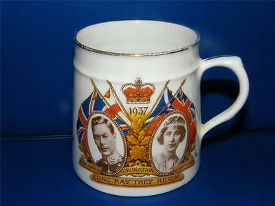 VINTAGE CORONATION COMMEMORATIVE MUG ~ KING GEORGE VI c1937