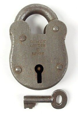 Vintage Iron Padlock *working Key* German Antique - # 8