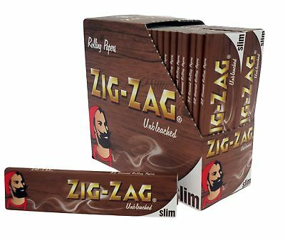 1 5 10 25 50 Zig Zag Unbleached King Size Slim Smoking Cigarette Rolling Papers