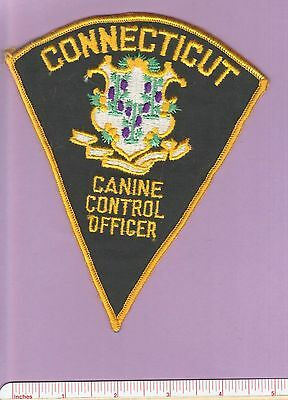 Old Connecticut State of CT Canine Control Officer Law Enforcement Police Patch