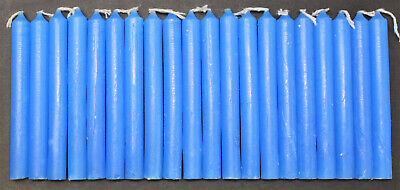 """Chime Spell Candles: Light Blue, Mini 4"""" Box of 20 (NEW) Pagan, Wicca, Altar"""