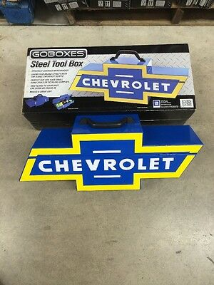 NEW GOBOX GO BOXES CHEVY Chevrolet Logo Steel Tool Box Authentic Licensed GM New