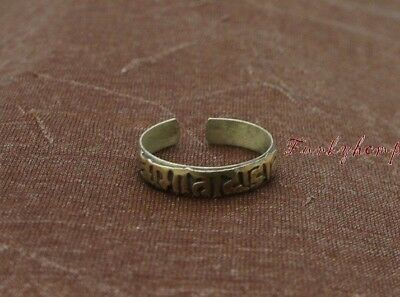 Handmade Tibeten Trible Silve & Antique Gold Plated Six OM Mantra Word Ring