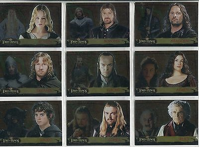 Lord Of The Rings Evolution ... Complete Card Set #1A-20A  ... Evolution A