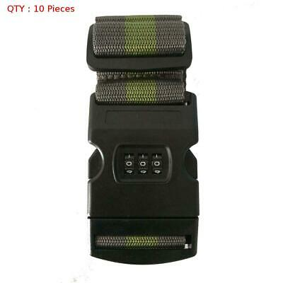 10X Brand New Travel Luggage Belt Packing Strap With Password Combination Lock