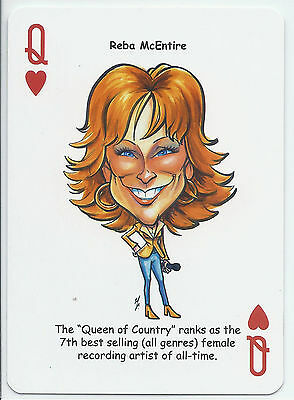 Reba McEntire - Country Music Singer - ODDBALL Playing card