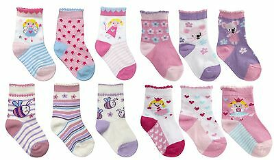 Cottonique Baby Girls Cute Character Cotton Rich Socks