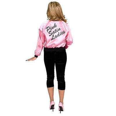 Charades Costumes Printed Satin Jacket Pink Ladies Adult Costume X-Small