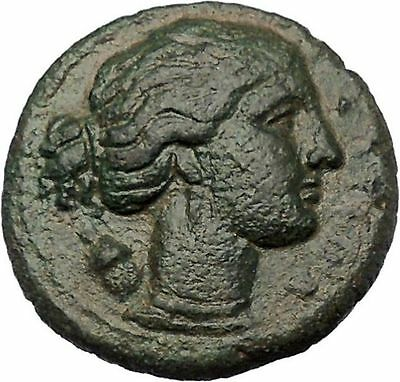 Syracuse Sicily 304BC Agathocles Tyrant Rare Ancient Greek Coin Artemis i46646