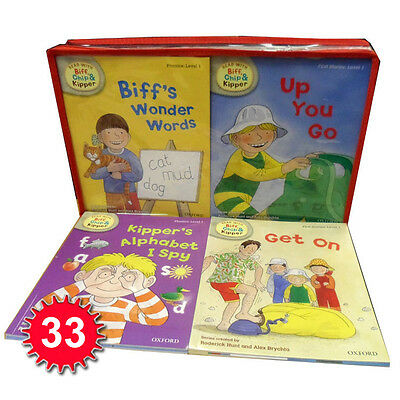 Read with Biff, Chip & Kipper Set Phonics and First Stories 33 Books Collection