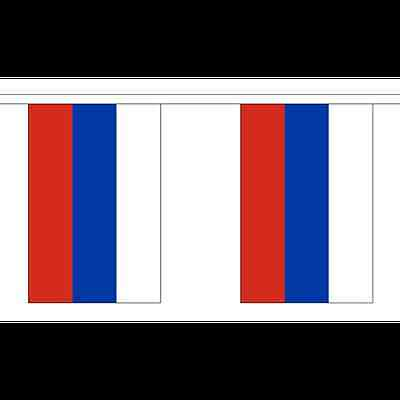 Russia Flag Bunting - 3m 6m 9m Metre Length 10 20 30 Flags - Polyester Euro 2016