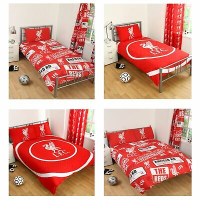 Liverpool Fc Single And Double Duvet Cover Sets Bedroom Bedding Free P+P